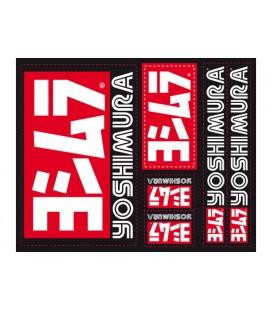 Set Stickers Yoshimura USA sfondo nero