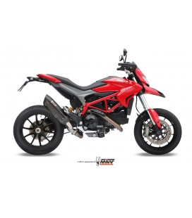 Black Mivv Sound Black stainless steel exhaust for Ducati Hypermotard 821 2013-2015