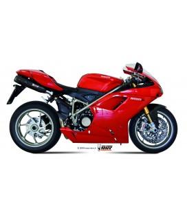 Black Mivv Sound Black stainless steel exhaust for Ducati 1198 2009-2012