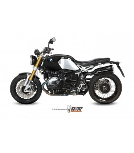 Black Mivv X-Cone exhaust in black stainless steel for BMW R NINE T 2014-