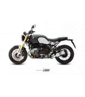 Scarico Mivv X-Cone black in inox nero per BMW R NINE T 2014-