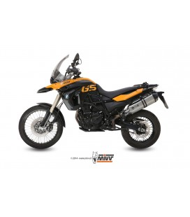 Scarico Mivv Speed Edge in inox per BMW F 800 GS 2008-