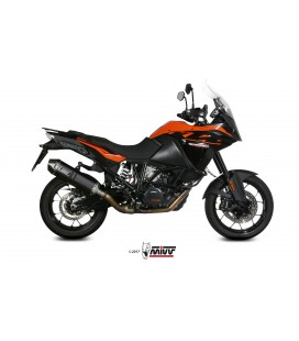 Scarico Mivv Speed Edge Black inox nero per KTM 1090 ADVENTURE 2017-2018