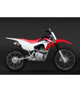 CRF125F 14-18 RS-2 STAINLESS FULL EXHAUST, W/ CARBON FIBER MUFFLER
