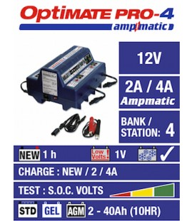 TecMate battery chargers Optimate PRO-4