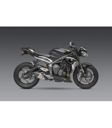 STREET TRIPLE 18-20 AT2 STAINLESS SLIP-ON EXHAUST, W/ STAINLESS MUFFLER