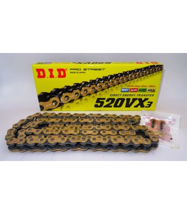 DID 520 VX3 Gold & Black CHAIN
