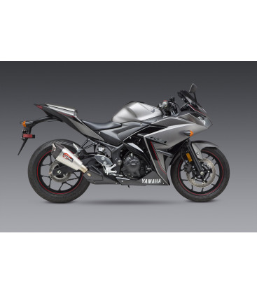 YZF-R3 15-21 / MT-03 20-21 AT2 STAINLESS SLIP-ON EXHAUST, W/ STAINLESS MUFFLER
