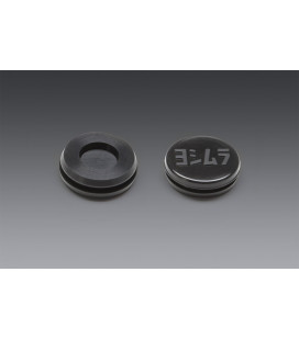 Yoshimura RUBBER GROMMET WITH LOGO TO COVER END-CAP INSERT HOLE FOR RS-9 MUFFLERS ONLY