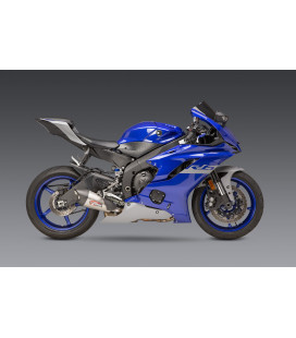 YZF-R6V 06-20 AT2 STAINLESS SLIP-ON EXHAUST, W/ STAINLESS MUFFLER