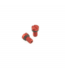 K-Tech Front Fork Air Bleed Screw KYB / SHOWA red - Pair