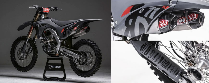 New 2019: collaboration with XOFFROAD for Honda CRF250R RIDEDifferent Limited Edition