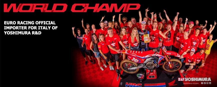 Tim Gajser Motocross 2019 world champion with full system Yoshimura R&D