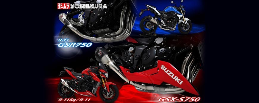 New Yoshimura Street Sport R-11 and R-11 Sq exhausts for Suzuki GSR 750 and GSX-S 750